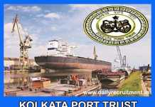 Kolkata Port Trust Recruitment 2019