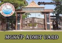 MGKVP Admit Card 2019