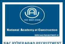 NAC Hyderabad Recruitment 2019