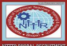 NITTTR Bhopal Recruitment 2019