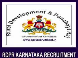 RDPR Karnataka Recruitment 2019