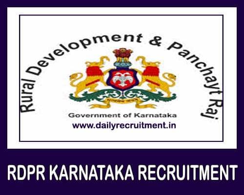 RDPR Karnataka Recruitment 2021