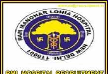 RML Hospital Recruitment 2019