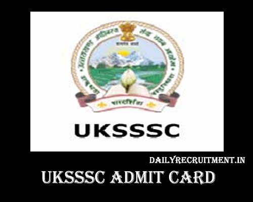 UKSSSC Forest guard Admit Card 2020