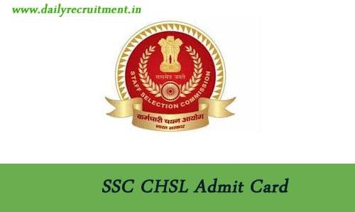 SSC CHSL Admit Card 2020