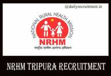 NRHM Tripura Recruitment 2019,