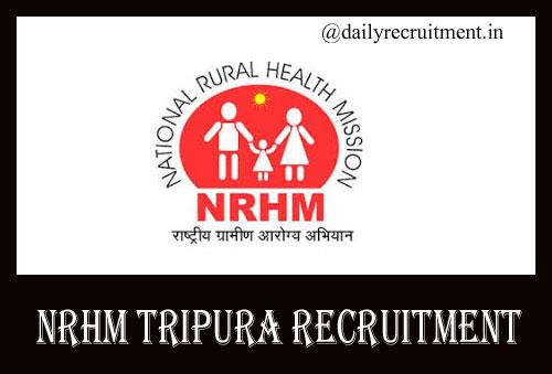 NRHM Tripura Recruitment 2019,