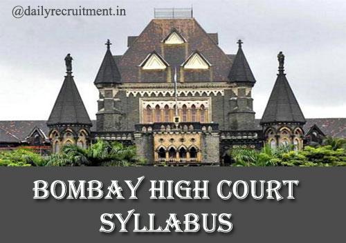 Bombay High Court Syllabus 2019