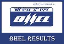 BHEL Results 2019