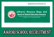 AAROHI School Recruitment 2019