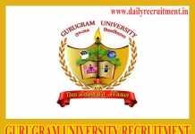 Gurugram University Recruitment 2019