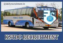 KSTDC Recruitment 2020