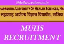 MUHS Recruitment 2019