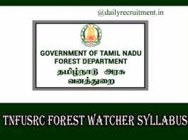TNFUSRC Forest Watcher Syllabus 2019