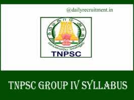 TNPSC Group 4 Syllabus 2019