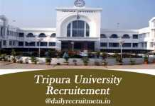 Tripura University Recruitment 2019