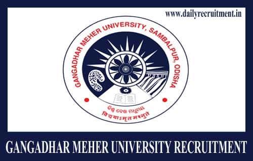 Gangadhar Meher University Recruitment