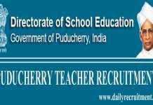 Puducherry Teacher Recruitment 2019