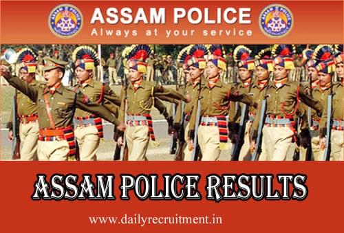 Assam Police Results 2019