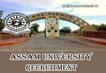 Assam University Recruitment 2019