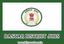 Bastar District Jobs 2019