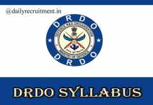 DRDO MTS Syllabus 2020