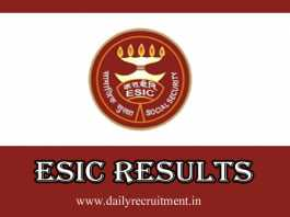 ESIC Results 2019