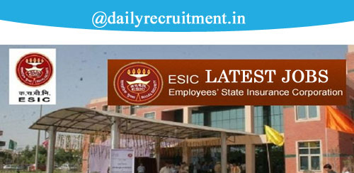 ESIC Recruitment 2019
