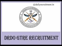 DRDO GTRE Recruitment 20202019