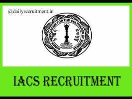 IACS Recruitment 2019