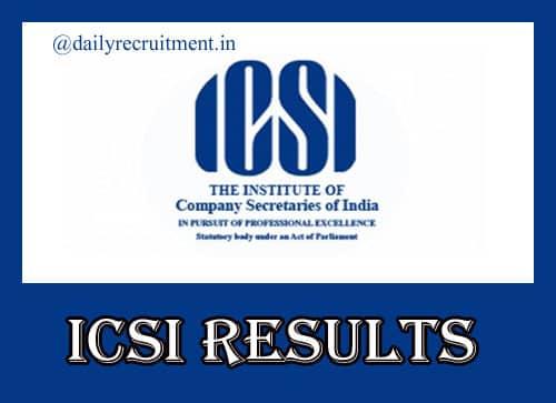 ICSI CS Professional Dec Result 2021