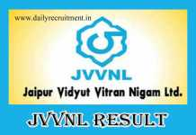 JVVNL Helper 2 Result 2019