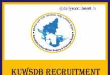 KUWSDB Recruitment 2019