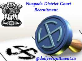Nuapada District Court Recruitment 2019