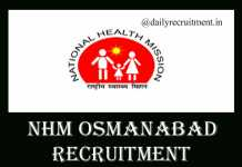 NHM Osmanabad Recruitment 2019