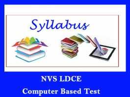 NVS Exam Syllabus 2019
