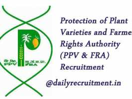 PPV&FRA Recruitment 2019