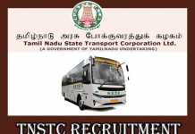 TNSTC Recruitment 2019