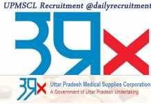 UPMSCL Recruitment 2019