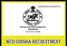 WCD Odisha Recruitment 2019