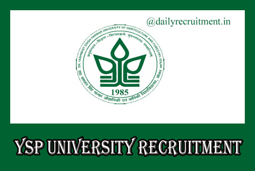 YSP University Recruitment 2020