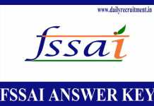 FSSAI Answer Key 2019