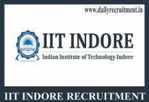 IIT Indore Recruitment 2020