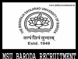 MSU Baroda Recruitment 2019