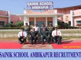 Sainik School Ambikapur Recruitment 2019