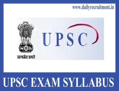UPSC CAPF AC Syllabus 2020