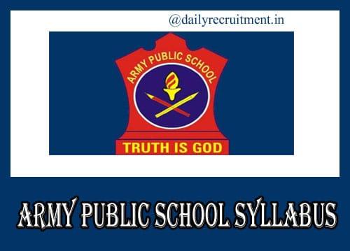 Army Public School Teacher Syllabus 2020