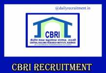 CBRI Recruitment 2019