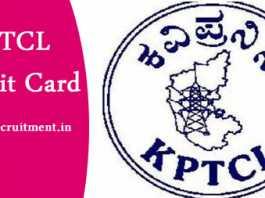 KPTCL Admit Card2019