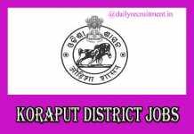 Koraput District Jobs 2019